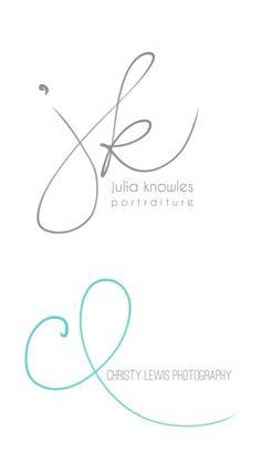 Handwritten Initials Custom Logo photoshop brush by PixelPolish, $49.50 | jaimekrzos