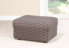 Sure Fit Slipcovers Stretch Box Links Ottoman Slipcovers - Cool and contemporary, these geometric links are a modern way to add visual interest without overpowering your space.  #Ottoman