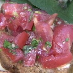 1 cup chopped tomatoes, Costoluto if you have them2 garlic cloves, finely chopped1 tablespoon chopped basil1 tablespoon chopped parsley3 to 4 tablespoons Filippo Berio Extra Virgin Olive OilSalt and Pepper to taste
