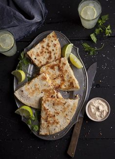 Spicy turkey quesadilla for leftovers at Christmas on DrizzleandDip.com #recipe #Christmas