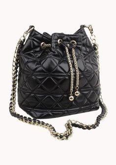 Leather Black Bucket Bag!