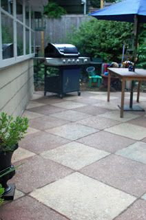 The Urban Un-MARTHA: My Painted Concrete Patio is Complete!