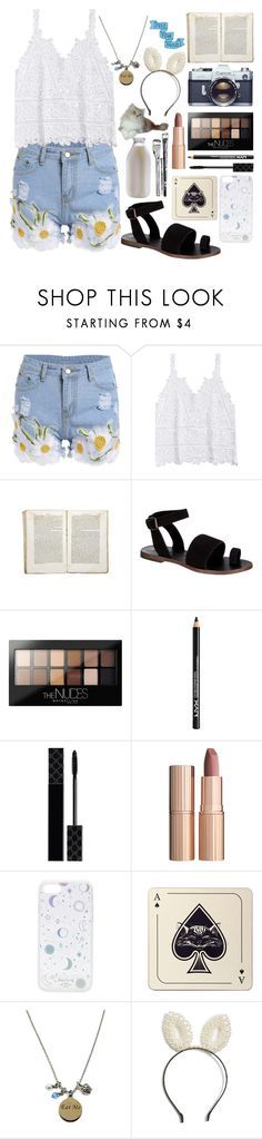 """""""in a world of my own"""" by nerdyquirkystyle ❤ liked on Polyvore featuring Jayson Home, Free People, Maybelline, NYX, Gucci, Charlotte Tilbury, Zero Gravity, Avenida Home and Berry"""