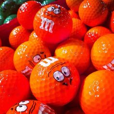 Orange M & M golf balls, they would be perfect for University of Tennessee Golf Team!