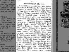 SHOWER AT AG GRANDMAS 6 JAN 1922
