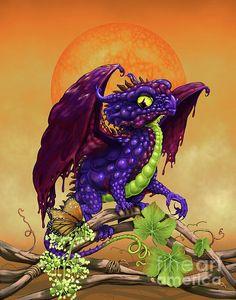Grape Jelly Dragon Digital Art by Stanley Morrison