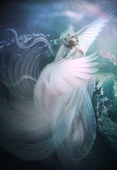 "Gods Goddesses Legends Myths:  ""Tsarevna Swan-Bird,"" by *LiliaOsipova, at deviantART."