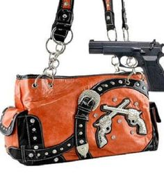 Orange Dual Six-Shooter Belted Conceal and Carry Purse  #HBM #Hobo