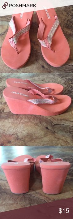 Women's sandals Fun and bright. Perfect for summer. Add a little sparkle and color to you wardrobe with these Colin Stuart wedge flip flops. Colin Stuart Shoes Wedges