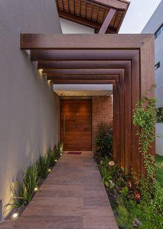 Entrance Design, House Entrance, Door Design, Exterior Design, Home Garden Design, Terrace Design, Home Room Design, Interior Garden, Backyard Patio Designs