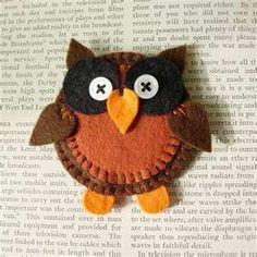 Flat felt owl