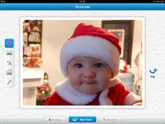 Love this baby santa image.