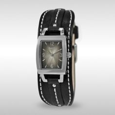 Roots - L Boho Chic-blk watch I love this look. Square Watch, Leather Bag, Boho Chic, Sweatpants, Roots, Watches, Lady, My Style, Shopping