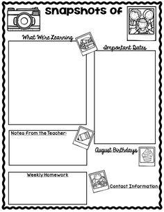 classroom newsletter template editable freebie pinterest class newsletter template class newsletter and newsletter templates
