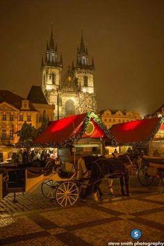 Christmas market, Prague, Czech Republic