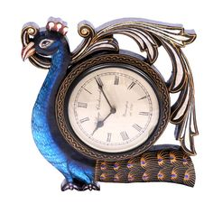 Antique Carving Peacock #WallClock #HomeDecor #CraftShopsIndia