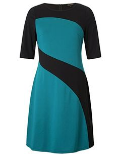 Chicwe Womens Plus Size Stylish Contrast Ponte Dress  Knee Length Casual and Work Dress 2X -- You can find out more details at the link of the image. (This is an affiliate link) Stylish Dresses, Casual Dresses For Women, Cute Dresses, Dresses For Work, Bride Dresses, Knee Length Dresses, Short Sleeve Dresses, Dresses With Sleeves, Plus Size Skirts