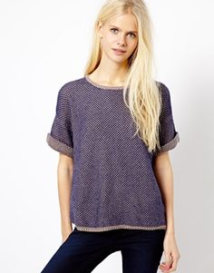 Esprit Knitted Short Sleeve Sweater
