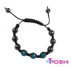 Shamballa Topaz - Bracelet Product Number: PO-B4841 Hematite and Topaz crystal bead bracelet.  $18.00 cdn Crystal Beads, Crystals, Beaded Necklace, Beaded Bracelets, Topaz, Shells, June, Fashion Jewelry, Product Launch