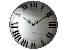 Present Time UK Karlsson Wall Clock Mega Dome Roman + Classic Hands Clock, Classic, Wall, Home Decor, Watch, Classical Music, Interior Design, Clocks, Home Interiors
