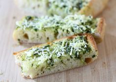 Basil Butter Garlic Bread on Tasty Kitchen Garlic Bread Spread, Great Recipes, Favorite Recipes, Amazing Recipes, Delicious Recipes, Healthy Recipes, Flavored Butter, Butter Recipe, Basil Recipes