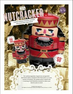 Our brand new Nutcracker warmer comes with a matching tree ornament! Just in time for the holidays! He is available now while supplies last! If you're interested in purchasing him or any of our products just visit my site at justinwhitley.scentsy.us. Please remember, when ordering on the site, to choose the party for the current month either from the drop down menu at the top or when prompted at checkout. Thanks!