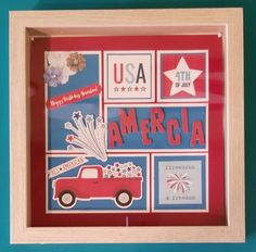 Fireworks and Freedom by Bella Blvd. Design by Tandara Smith for Scrappin' in the City. American Freedom, Fireworks, Layout Design, 4th Of July, Boxes, City, Frame, Home Decor, Homemade Home Decor