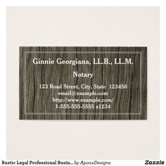 Shop Simple Rustic Corporate Counsel Business Card created by AponxDesigns. Personalize it with photos & text or purchase as is! Professional Business Cards, Business Card Design, Counseling, Card Designs, Things To Come, Rustic, Simple, Lawyer, Nice