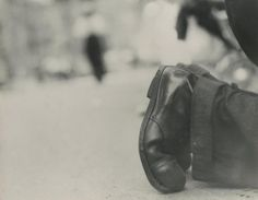 Saul Leiter, Shoes of the Shoeshine Man, c.1951