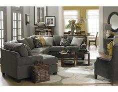 CU.2 Left Cuddler Sectional by Bassett | Sylvan Furniture