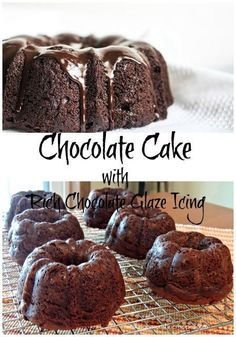 Chocolate Cake with Rich Chocolate Glaze Icing.  The cake starts off with a CAKE MIX!  Easy and delicious from Walking on Sunshine Recipes.