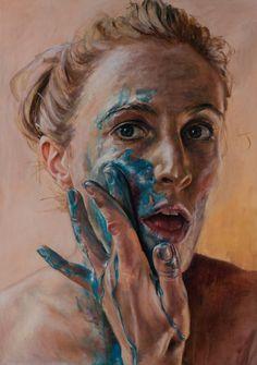 Emma Leone Palmer Sky Arts Portrait artist of the year contestant 2017