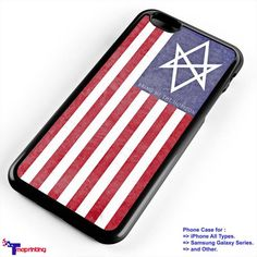 Bring Me The Horizon Drown USA Flag - Personalized iPhone 7 Case, iPhone 6/6S Plus, 5 5S SE, 7S Plus, Samsung Galaxy S5 S6 S7 S8 Case, and Other