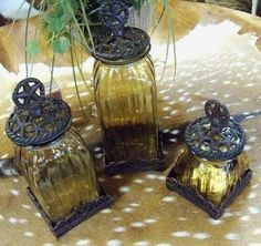 Rustic Star Glass Canister Set