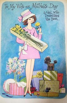 Vintage 1960's Mother's Day Card