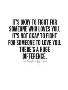 So true. Fight for love!