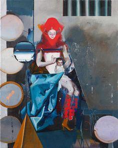 Rayk Goetze, Madonna (Set), 100 x 80 cm, Öl und Acryl auf Leinwand, 2018