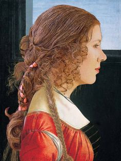 The Ladies of 2.318 - Historical Hair Blog - Renaissance photoshop fun - they took one of their reproductions and overlayed it on a historical painting