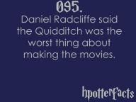 Harry Potter facts Daniel Radcliffe Quidditch worst about making movies - Harry Potter facts