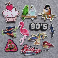 1pcs sell high quality mixture cartoon patter hot melt adhesive applique embroidery patches stripes DIY clothing accessory patch #Affiliate
