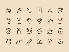 We just released a new category on Nucleo: food icons!   Grab the free sample of this set (30 icons) on the IconStore ;) http://iconstore.co/icons/nucleo-food-free/