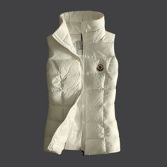 New Collection Moncler Women Down Vest Fully White [2900215] - £153.69 :
