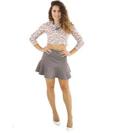"""This simple flair mini is a great basic for pairing with anything you've got; seriously! When matched with a flirty crop top it completes a girly glam look, or when finished with an oversized sweater and combat boots you'll be rocking a grungy chic vibe.     By Line and Dot  Polyester/Cotton Blend  Dry Clean Only  Imported    Model Info: Height: 5'6"""" 