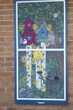 Painting on Old Screen Window