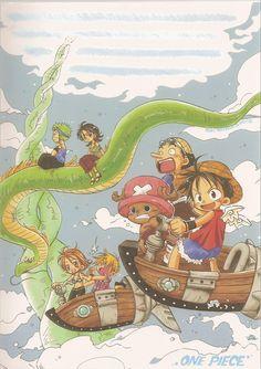 One Piece, Tony Tony Chopper, Roronoa Zoro, Usopp, Nami