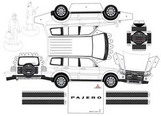 papercraft   ... , Rock n´Roll, Miniaturas e Etc!: Papercraft: Mitsubishi Pajero