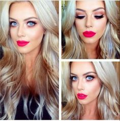 Chloe Boucher - pink eyes red-ish pink lips,maybe this one next? -Grace