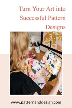Pattern and Design is the place to get started to learn about creating pattern repeats. Learn lots of tips, tutorials and inspiration for your textile design or surface pattern design business. Kids Patterns, Floral Patterns, Fabric Patterns, Textile Design, Fabric Design, Creative Class, Photoshop Tips, Inspiration For Kids, Surface Pattern Design