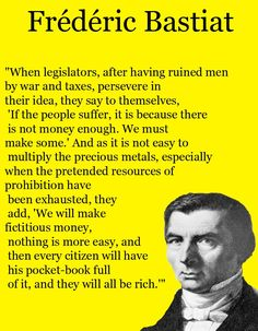 FREDERIC BASTIAT ART PRINT PHOTO POSTER QUOTE LIBERTARIAN ECONOMICS Frédéric