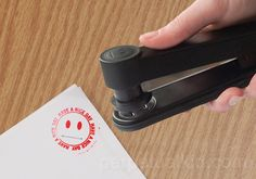 I wish I had one of these to use on student papers that said BUY A F8CKING STAPLER. STAMPLER